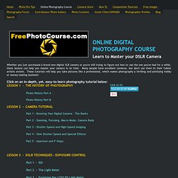 Digital Photography Lessons - Free Photography Course, DSLR Lessons & Tips