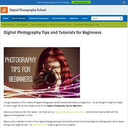Digital Photography Tips and Tutorials