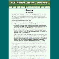 All About Digital Photos - Scanning Photos and Slides