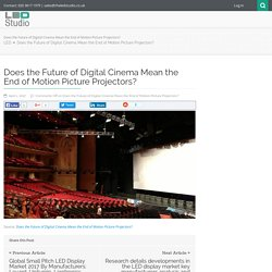Does the Future of Digital Cinema Mean the End of Motion Picture Projectors?