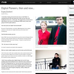 Digital Pioneers - Franki Goodwin