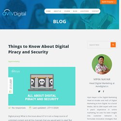 What is Digital Piracy?