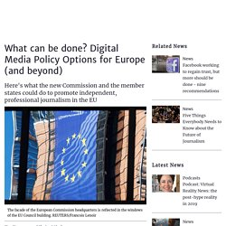 What can be done? Digital Media Policy Options for Europe (2019)