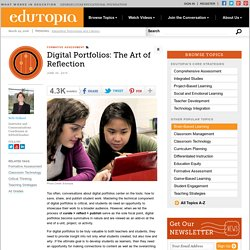 Digital Portfolios: The Art of Reflection