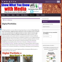 Digital Portfolios » Show What You Know with Media