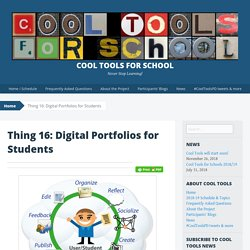 Thing 16: Digital Portfolios for Students - Cool Tools for School
