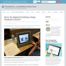 How Do Digital Portfolios Help Students Learn?