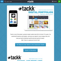 Digital Portfolios with Tackk