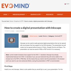 How to create a digital presentation with Inkscape