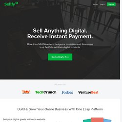 Sell digital products online with Sellfy
