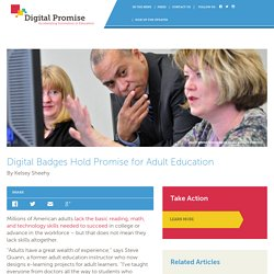 Digital Badges Hold Promise for Adult Education