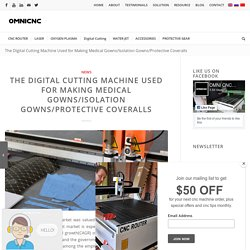 Digital Cutting Machine for Medical Gowns or Protective Coveralls