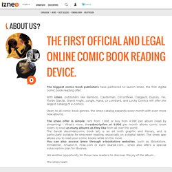 Which digital publishers are part of the Izneo adventure? Since when? Why?