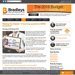 Making Tax Digital: 11 burning questions HMRC answered