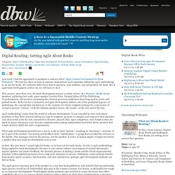 Digital Reading: Getting Agile About Books