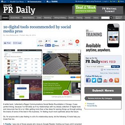 10 digital tools recommended by social media pros