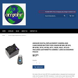 Amsahr Digital Replacement Camera and Camcorder Battery for Canon BP-8