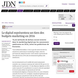 Le digital représentera un tiers des budgets marketing en 2016