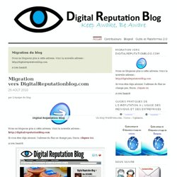Digital Reputation Blog