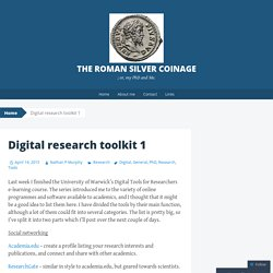 Digital research toolkit 1
