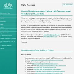 Digital Resources – ALAA