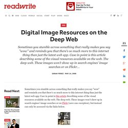 Digital Image Resources on the Deep Web - Pentadactyl