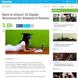 Back to School: 42 Digital Resources for Students & Parents