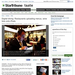 Digital dining: Restaurants uploading menus, wine lists onto iPads