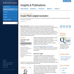 Inside P&G's digital revolution - McKinsey Quarterly - Retail & Consumer Goods - Strategy & Analysis