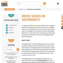 Digital Safaris on Sustainability - Live DMA