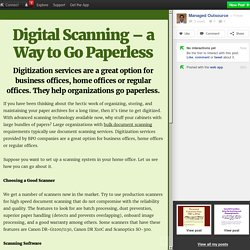 Digital Scanning – Approaching Paperless