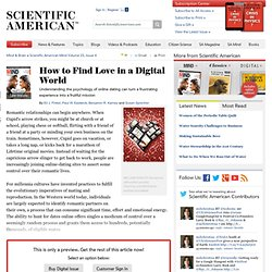 How to Find Love in a Digital World