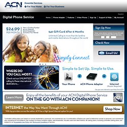 ACN Digital Phone Service Calling Plans, Video Phone, Adapter