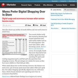 Moms Prefer Digital Shopping Over In-Store