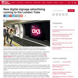 New digital signage advertising coming to the London Tube