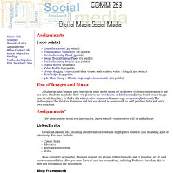 Digital Media.Social Media: Assignments