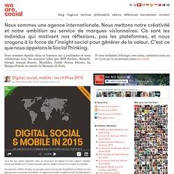 Digital, social, mobile : les chiffres 2015