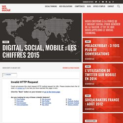 Digital, social, mobile : les chiffres 2015 - We Are Social France