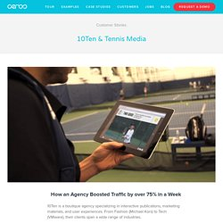 10Ten & Tennis Media — Digital Catalog Software & Content Marketing Software
