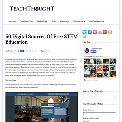 50 Digital Sources Of Free STEM Education