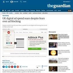 UK digital ad spend soars despite fears over ad blocking
