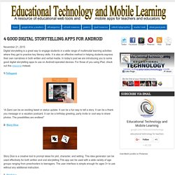 Educational Technology and Mobile Learning: 4 Good Digital Storytelling Apps ...