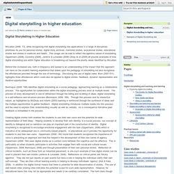 digitalstorytellingsynthesis / Digital storytelling in higher education