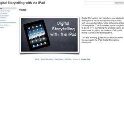 Digital Storytelling with the iPad