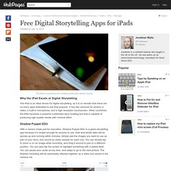 Free Digital Storytelling Apps for iPads