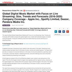 Global Digital Music Market with Focus on Live Streaming: Size,... - Researchmoz Global Pvt. Ltd.