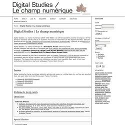 Digital Studies / Le champ numérique