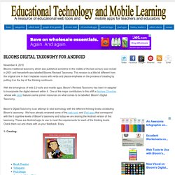 Blooms Digital Taxonomy for Android