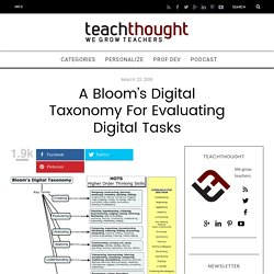 A Bloom's Digital Taxonomy For Evaluating Digital Tasks