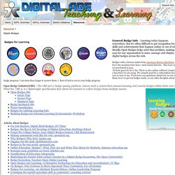 Digital Badges - Digital Age Teaching & Learning